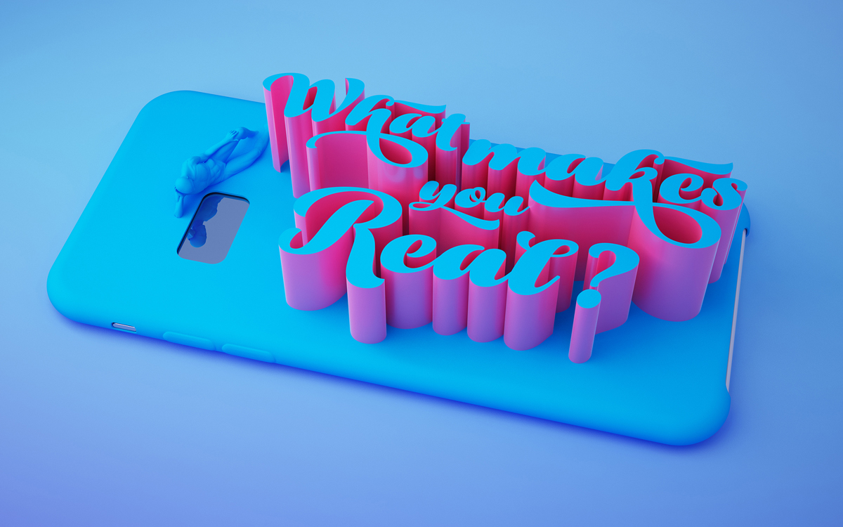 Ale Paul, Bowling Script, presented by Tomás García in a 3D project entitled Mute
