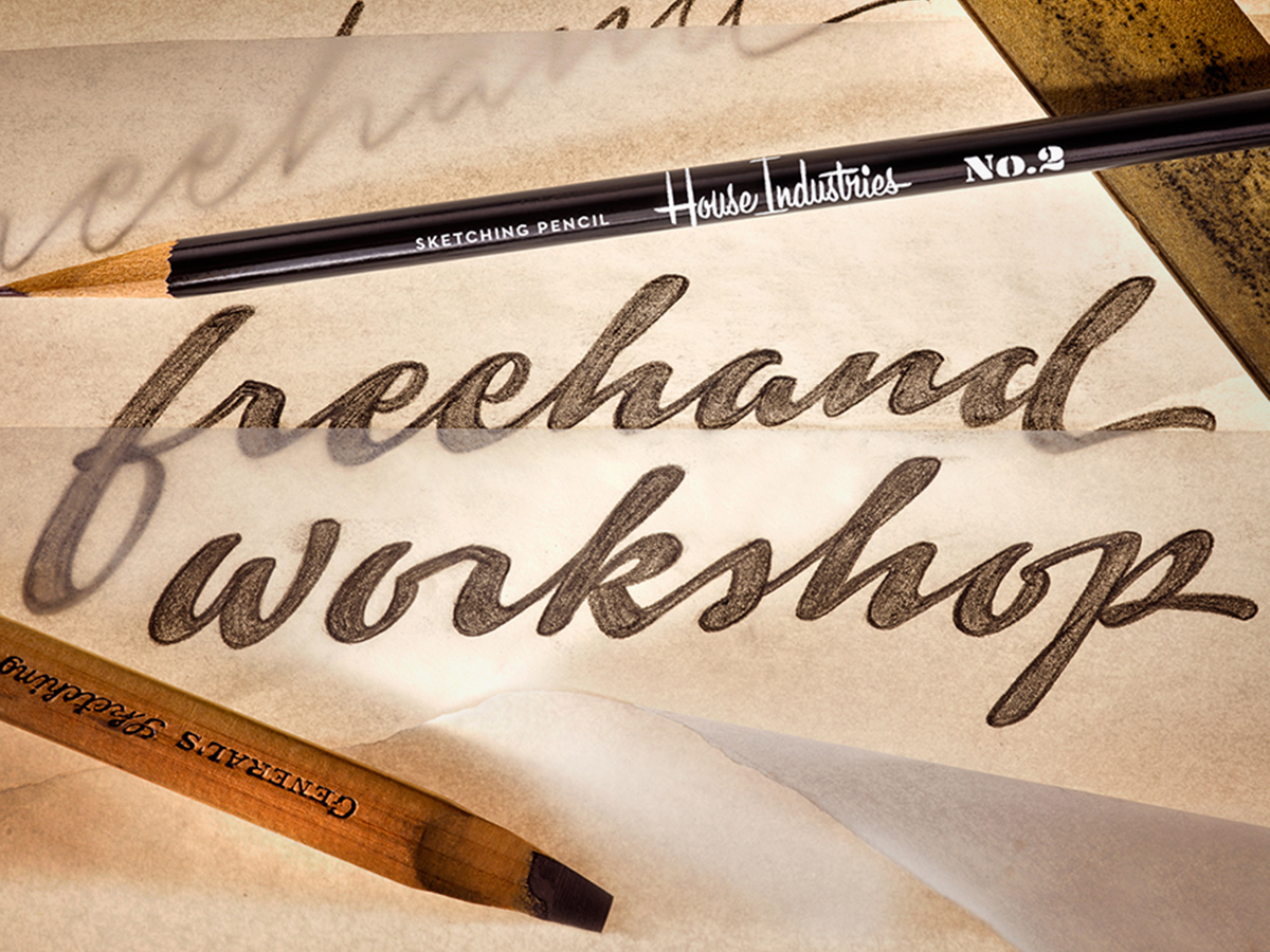 Ken Barber, Promotional Lettering for a workshop conducted at House Industries in 2015