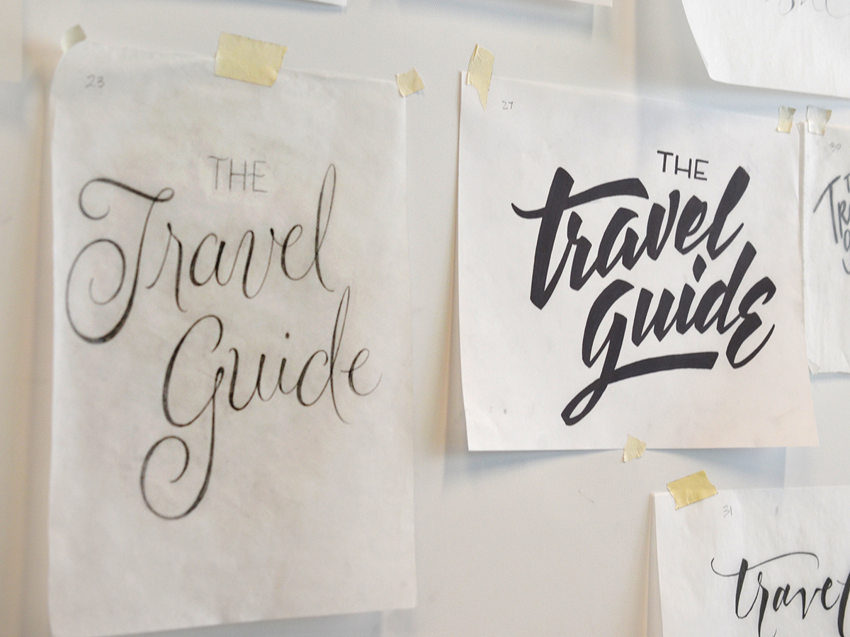 Ken Barber, Student work produced during the Freehand Lettering workshop conducted at The Cooper Union in 2014