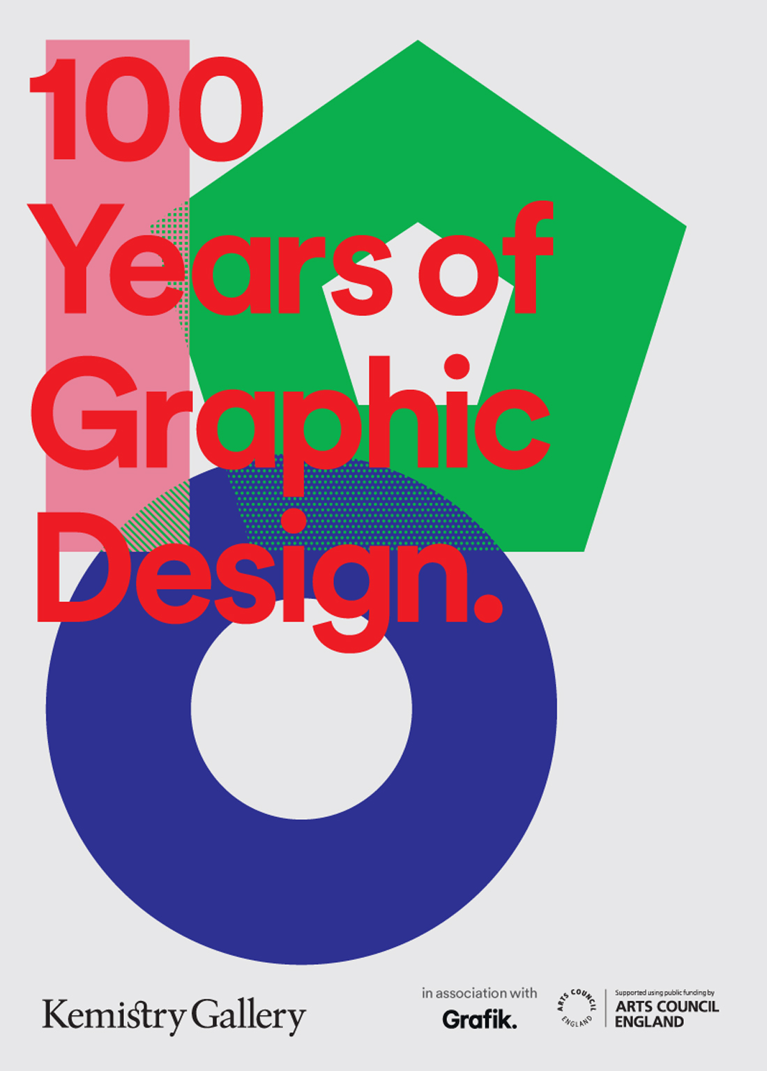 100 Years of Graphic Design poster