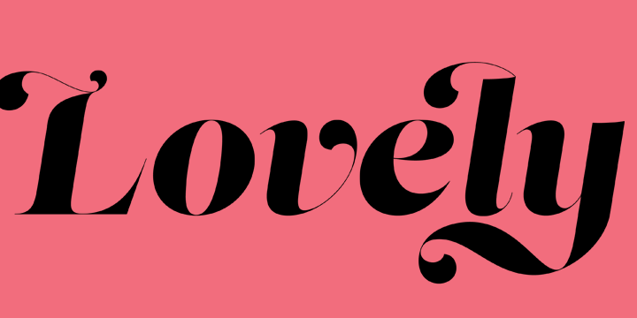 Lust italic, by Neil Summerour