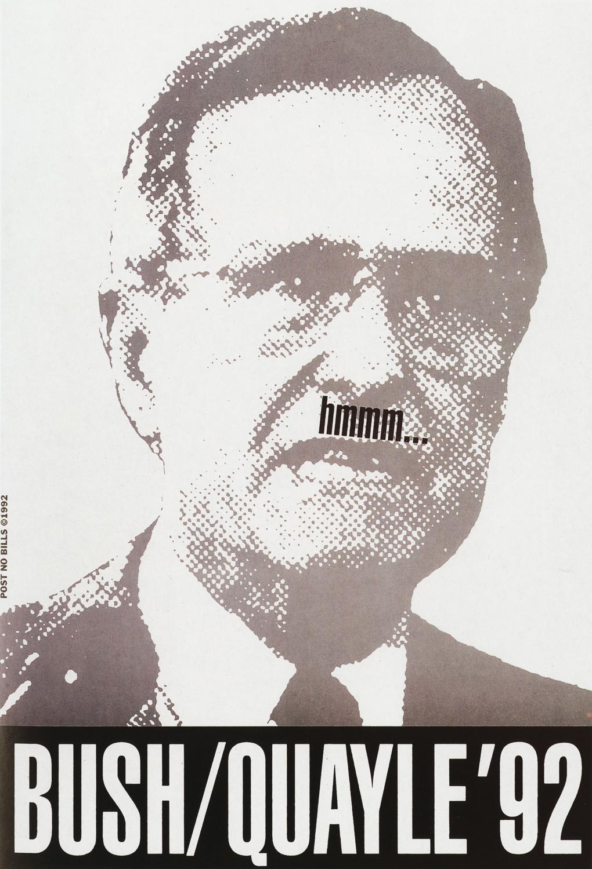 Bush/Quayle '92 by Post No Bills
