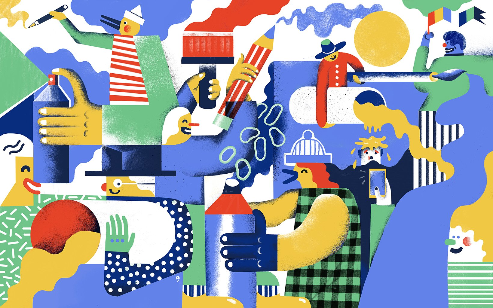 Part of a mural project for Samsung.