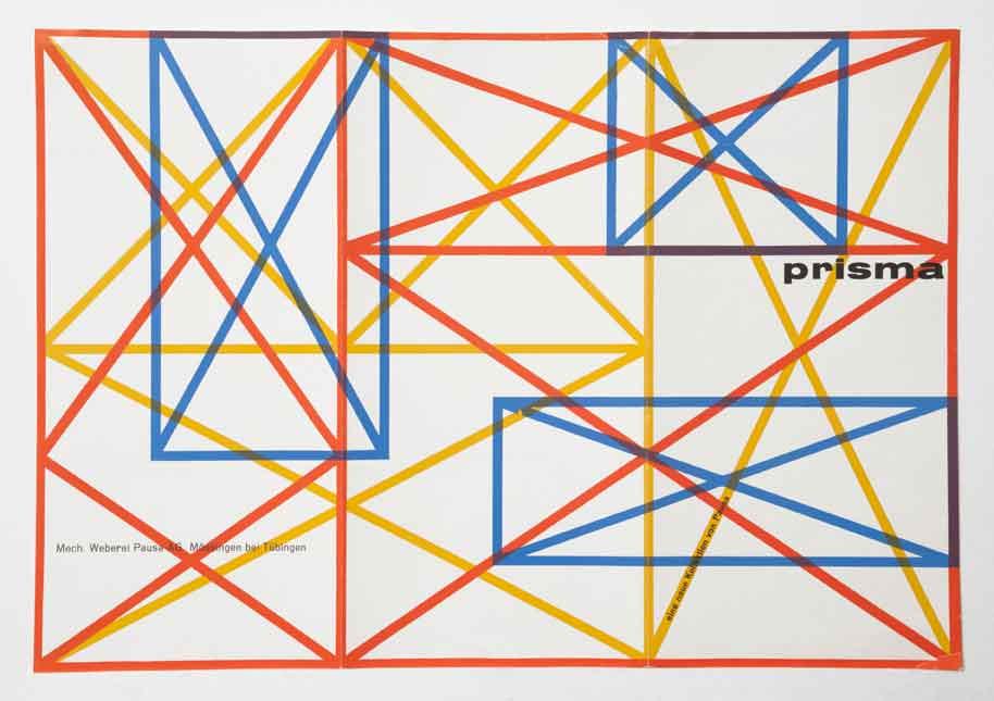 Poster for Pausa, a weaving company and original Deutsche Werkbund member firm.