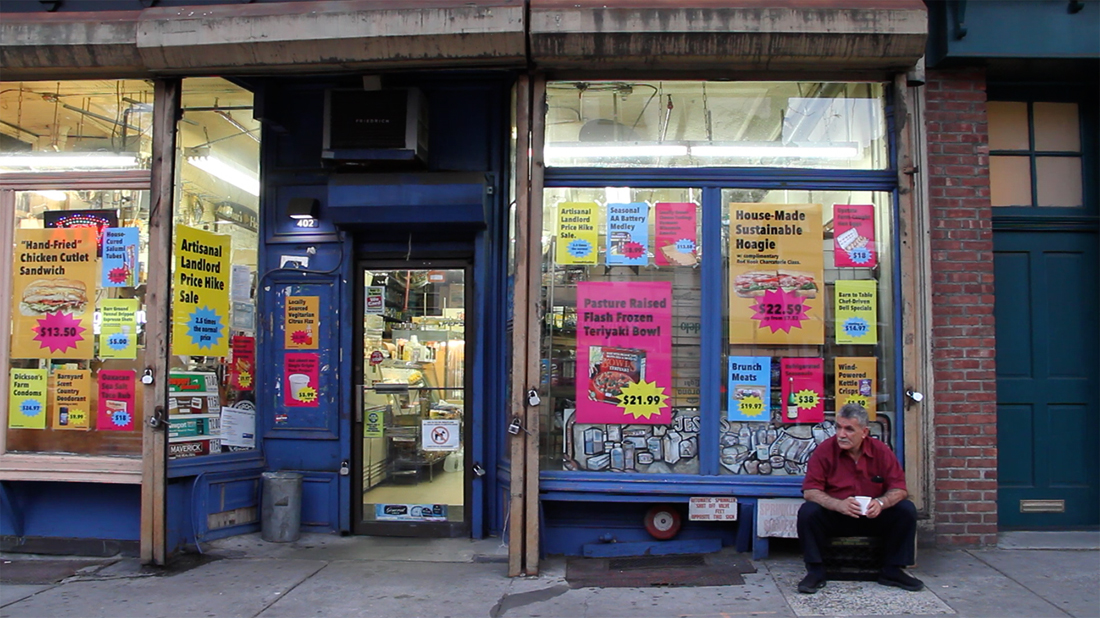 Owner Jesse Itayim in front of Jesse's Deli, Boreum Hill, Brooklyn. Image courtesy of DCX.