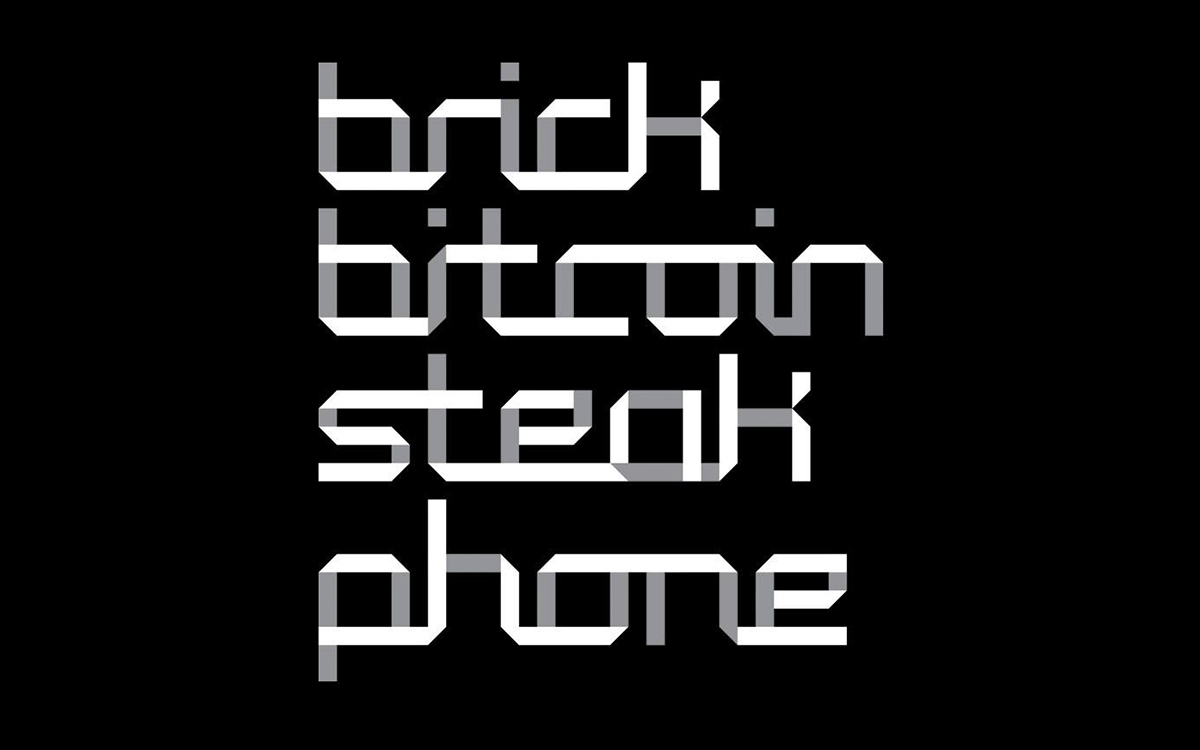 Brick, Bitcoin, Steak, Phone