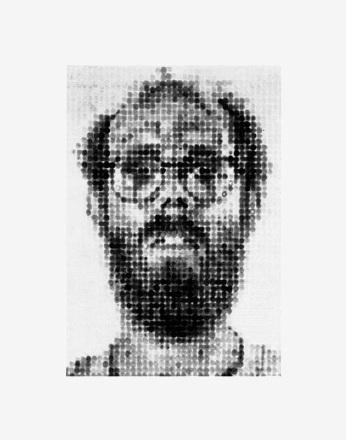 """Self-Portrait"" by Chuck Close (1988)"