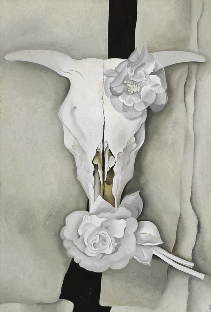 """Cow's Skull with Calico Roses"" by Georgia O'Keefe (1931)"