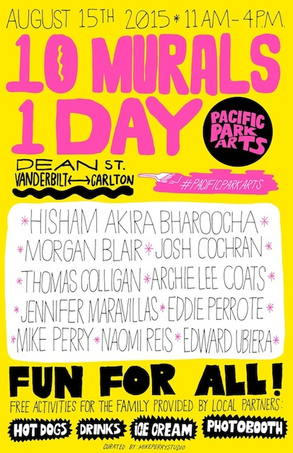 """10 Murals 1 Day"" Poster by Mike Perry courtesy of Pacific Park Arts"