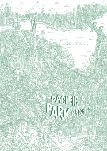 Brooklyn Map by Mike Perry courtesy of Pacific Park Arts