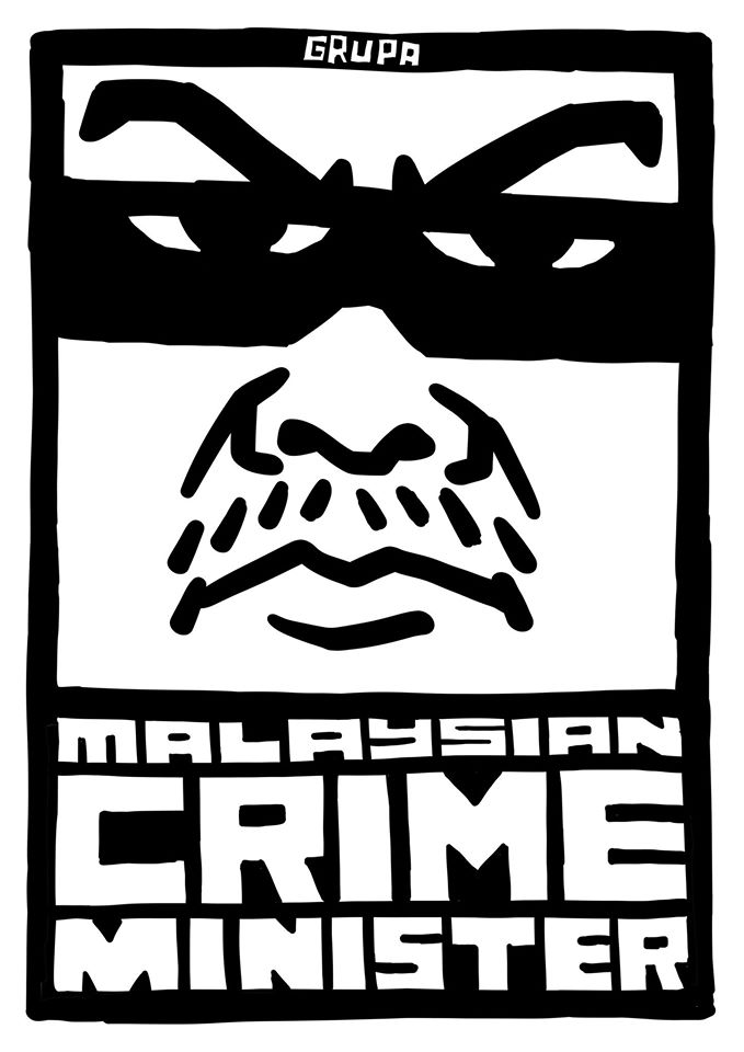malaysian-crime-minister-political-poster