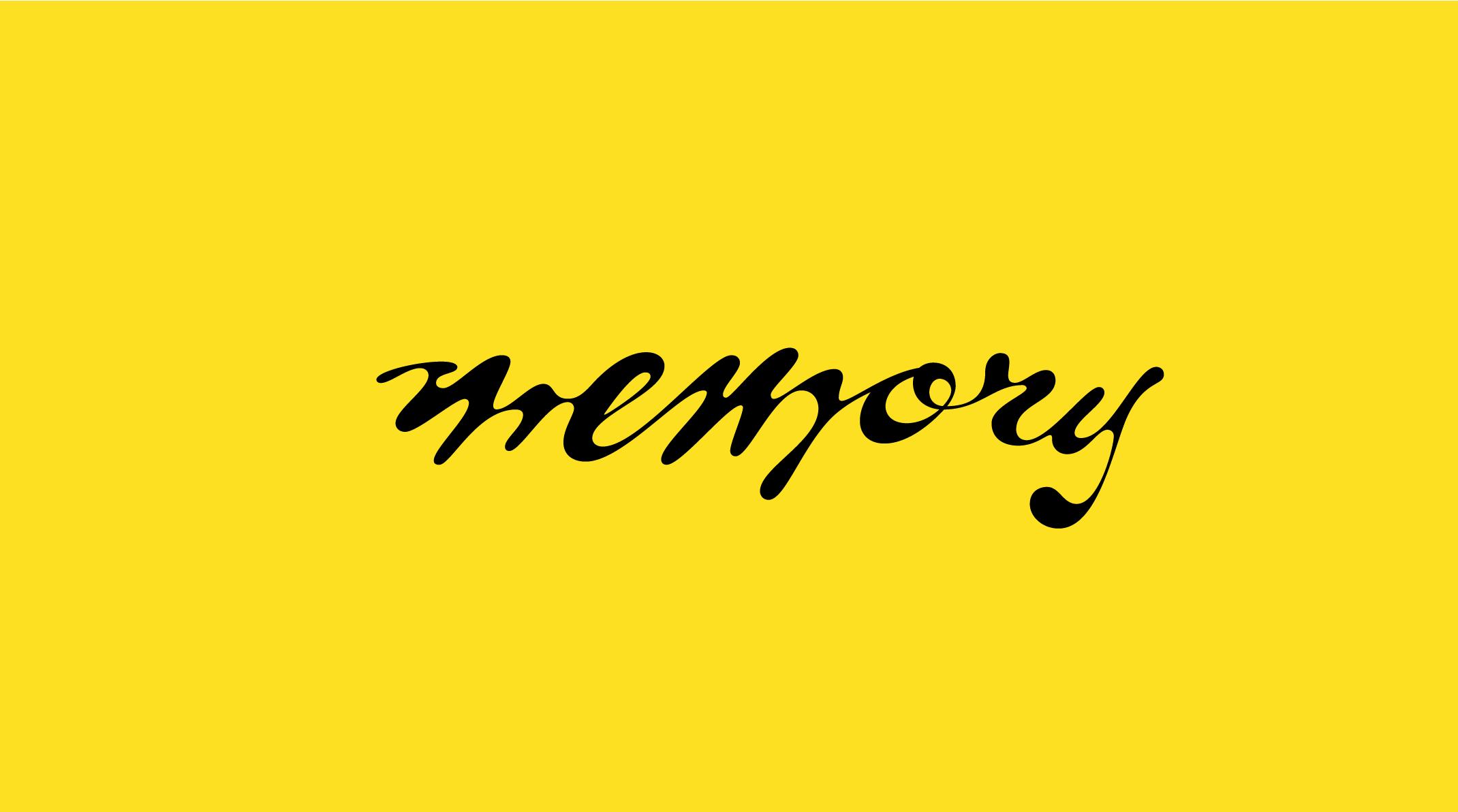 Isabel Urbina Peña lettering, memory