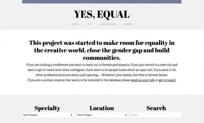 yesequal.us homepage