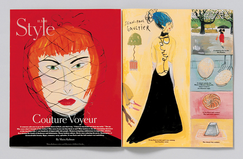 Art director: Janet Froelich Designer: Claude Martel Illustrator: Maira Kalman, The New York Times Magazine, 2000