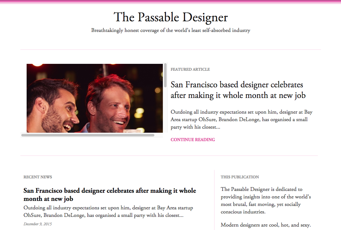 The Passable Designer