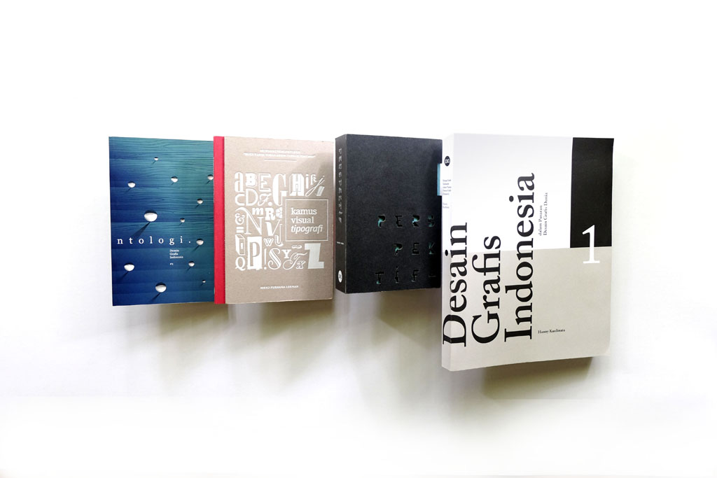 Publications produced by DGI thus far have included one introducing 19 young Indonesian graphic designers, a compilation of essays on the scene, a visual dictionary of typography terms and a chronicle of the country's graphic design history. COURTESY OF DGI