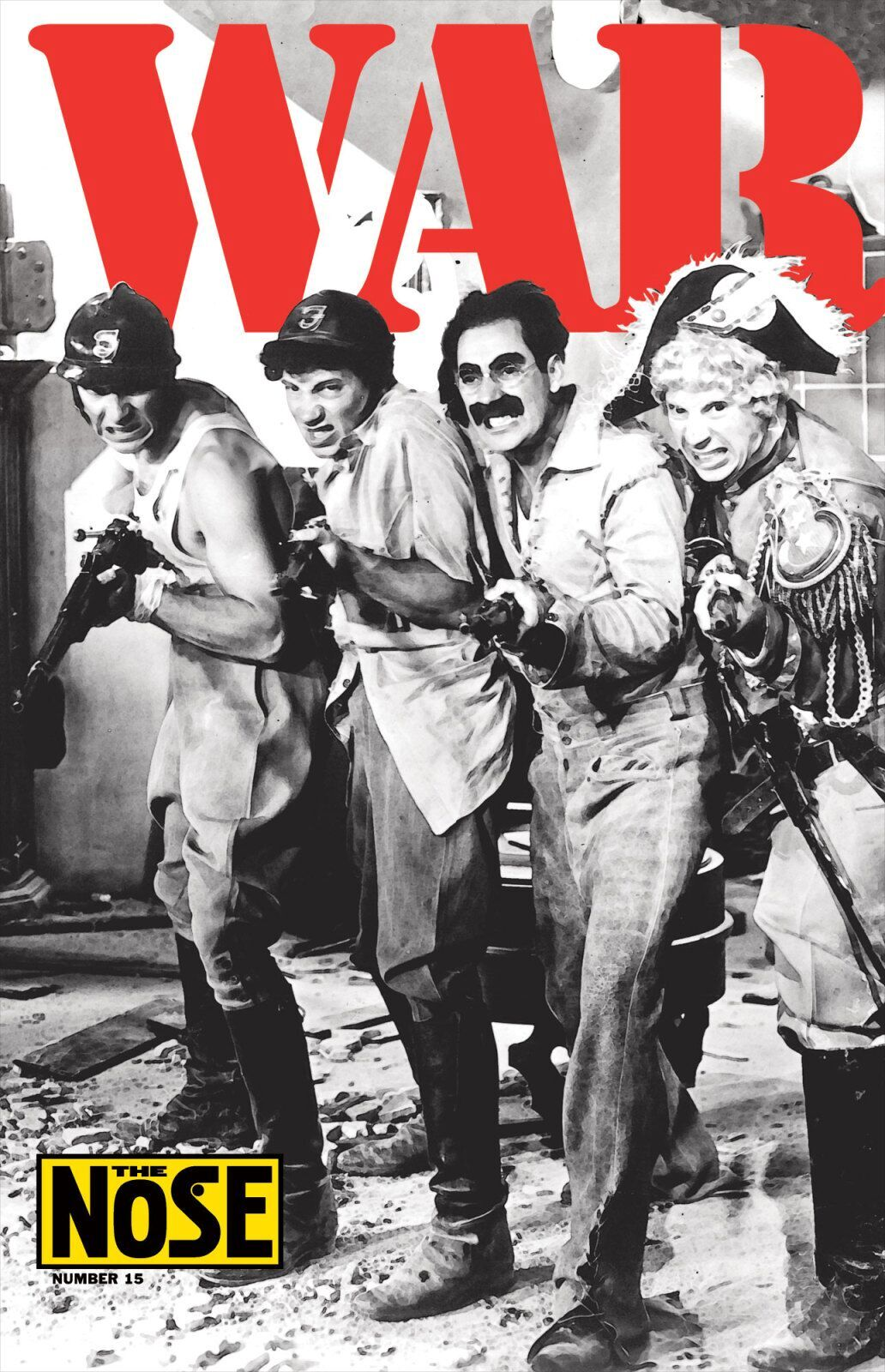 Chwast-poster-design-the-nose-war-marxbrothers