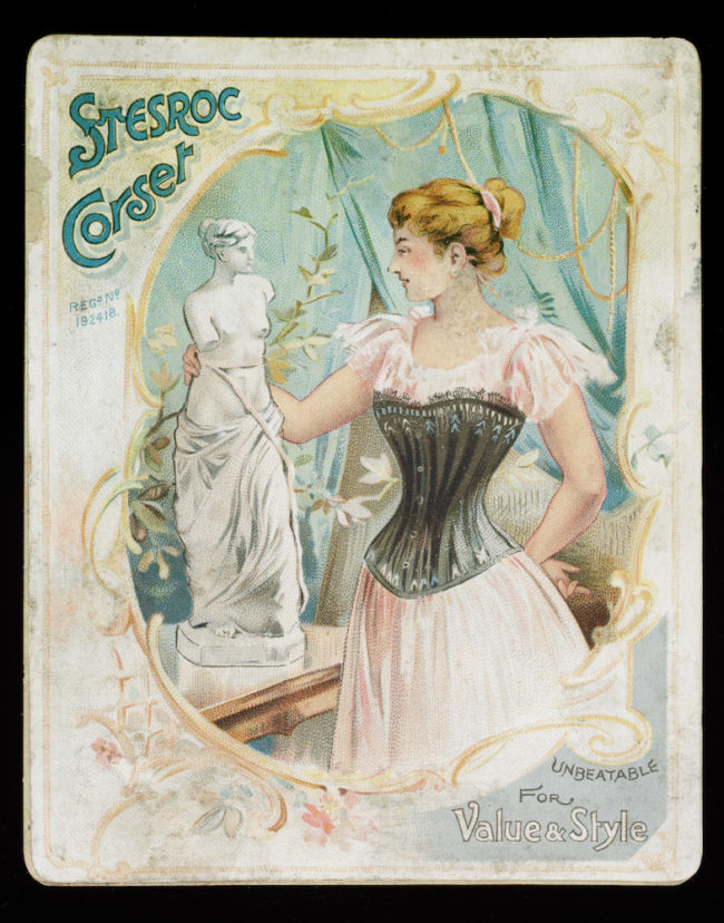 Stereo corset, advertisement, courtesy Victoria and Albert Museum, London.