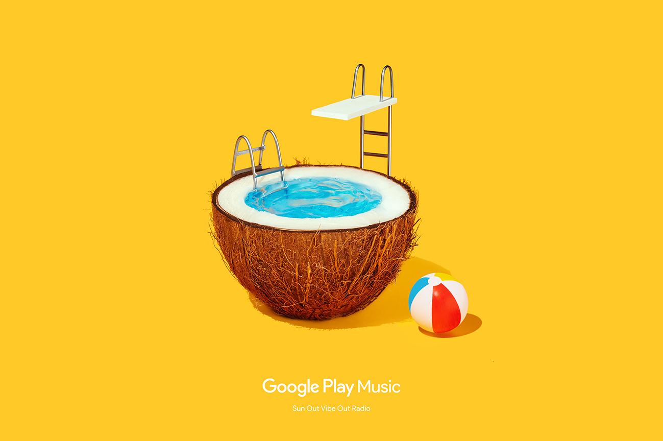 Google Play Music Sun Out Vibe Out ad.
