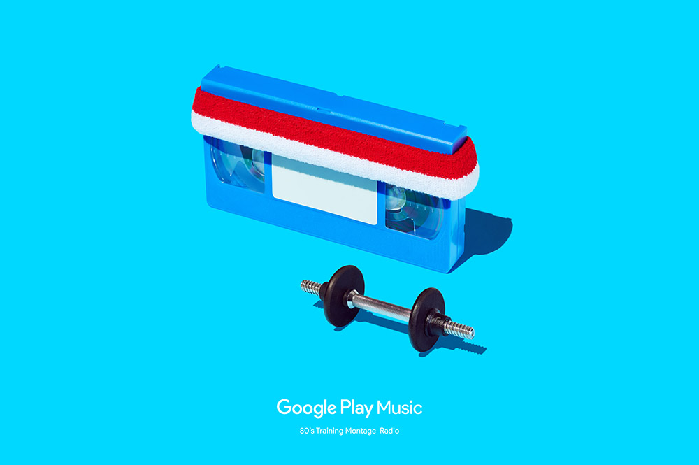 Google Play Music 80s Workout Montage ad. Designed at RoAndCo