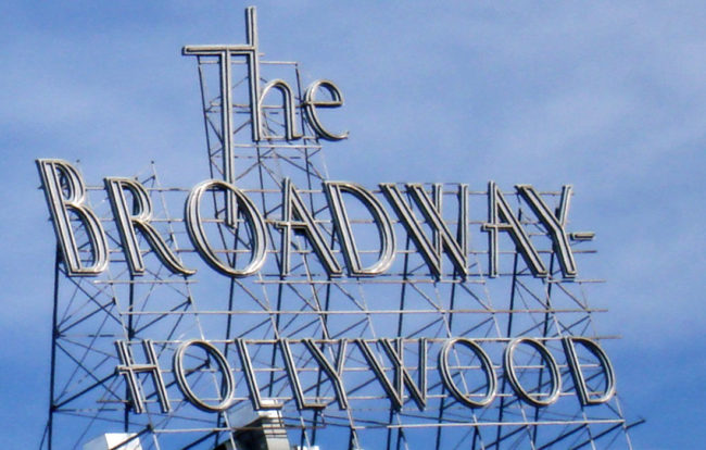 the Broadway Hollywood sign