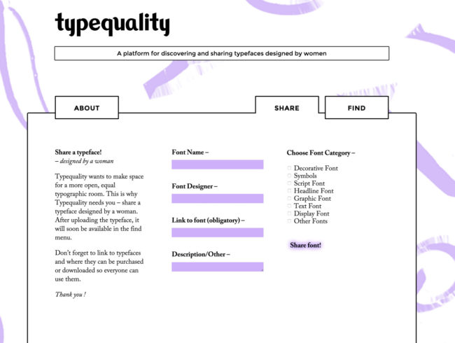 Kim Ihre's Typequality website