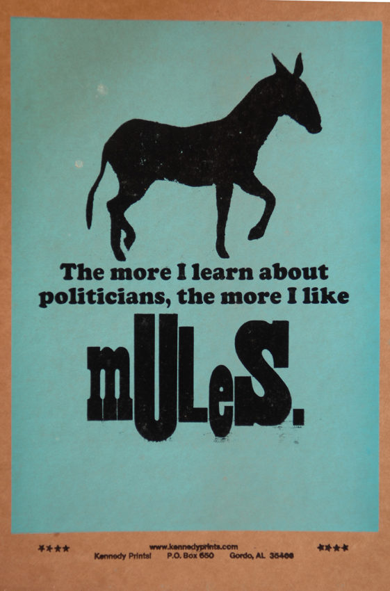 Amos Kennedy, Mules poster