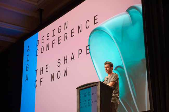 Christopher Simmonds at AIGA Design Conference 2016, photography by Frank Aymami
