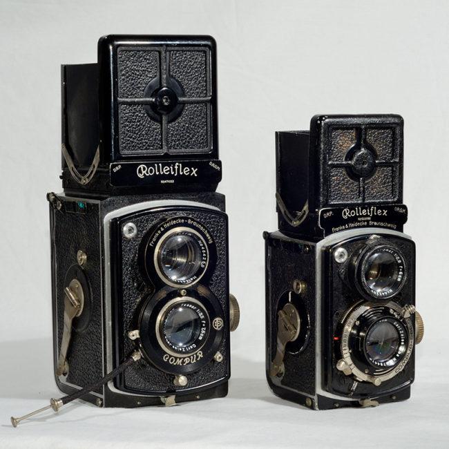 Mid-1930s Rolleiflex 622 6x6 and Baby Rolleiflex 4x4 (©Jonathon Short/ AlamyStock Photo)