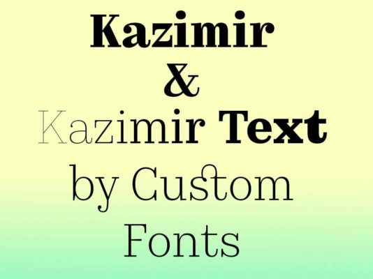 Don't Call it a Revival—Kazimir Font is Inspired by Type Errors in Early Russian Printing