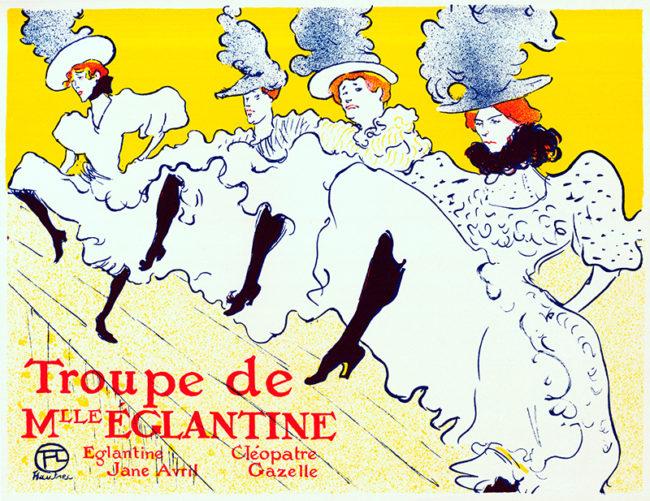 La Troupe De Mlle Eglantine 1896, Art Nouveau poster by Toulouse Lautrec (©Lordprice Collection/ Alamy Stock Photo)