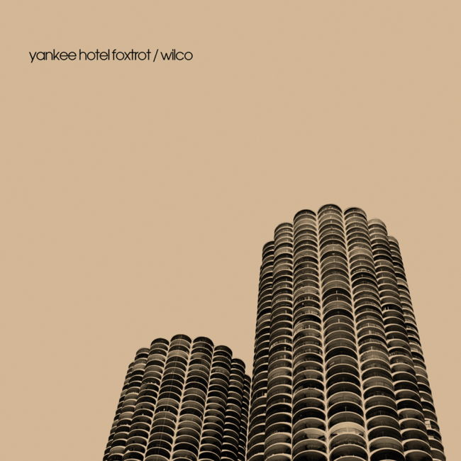 Wilco, Yankee Hotel Foxtrot sleeve, designed by Lawrence Azerrad/LADdesign
