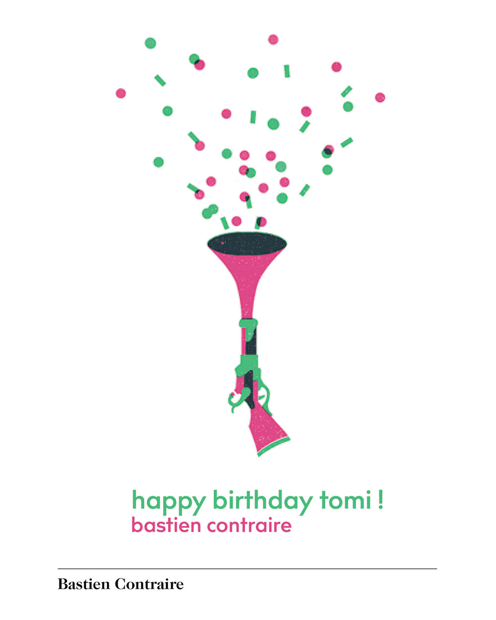 Birthday greeting from Bastien Contraire, from http://www.phaidon.com/CelebrateTomi
