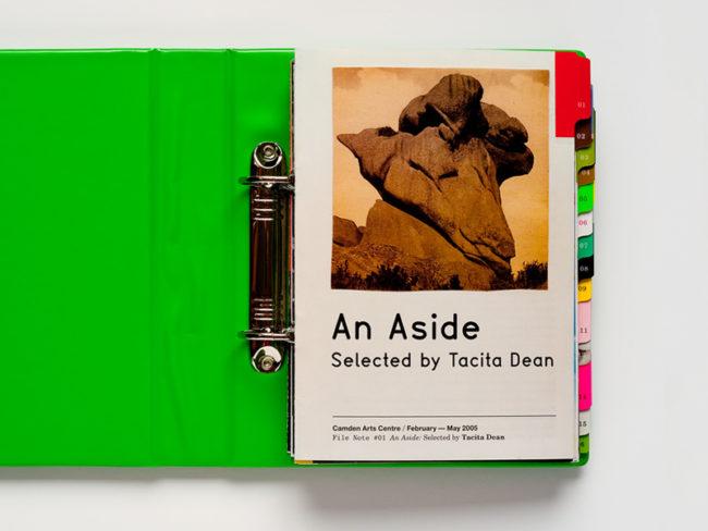 Sara De Bondt Studio, Tacita Dean book