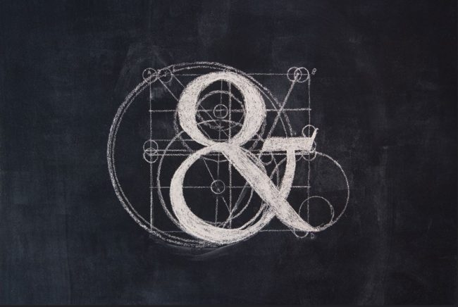 Type Quiz chalk ampersand