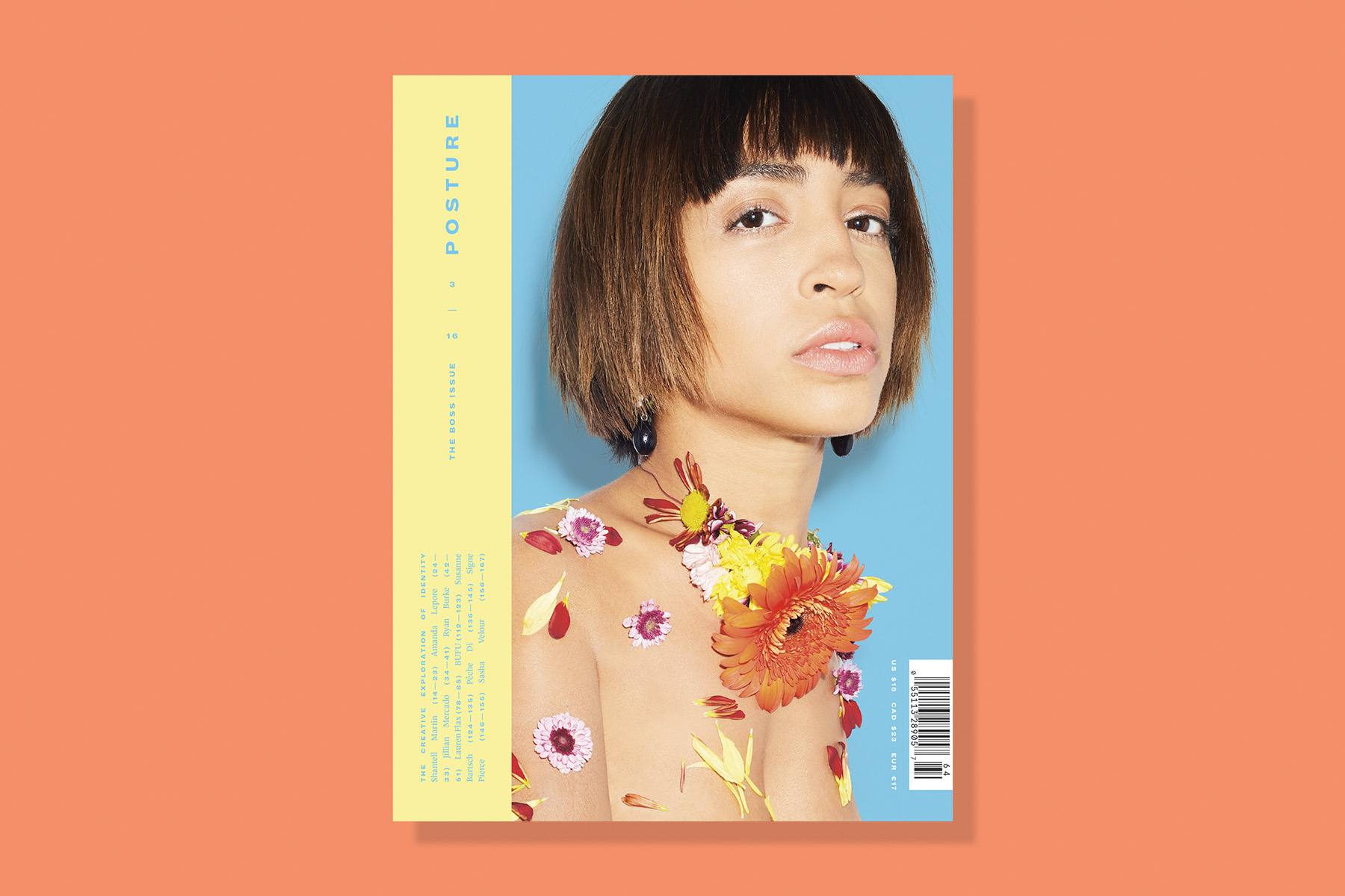 The newly redesigned cover for issue three of Posture magazine