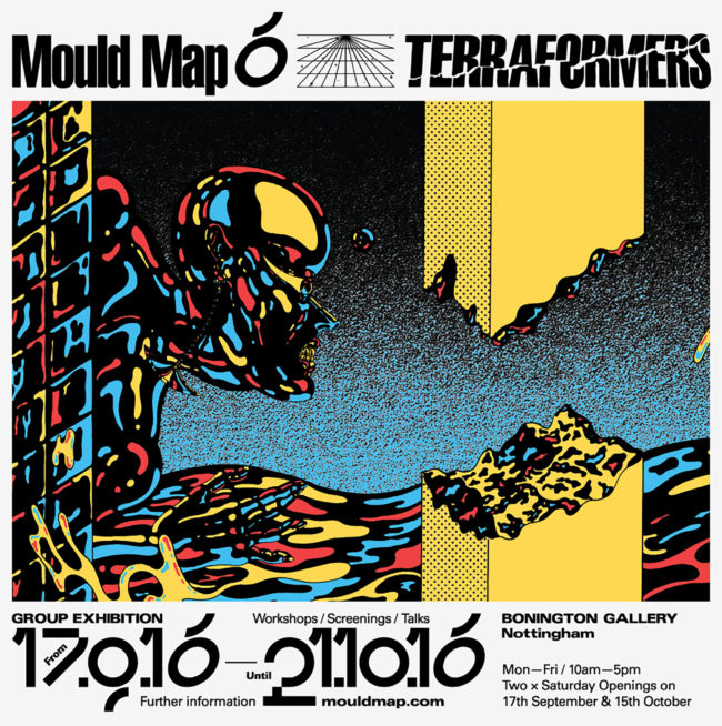 Jonny Negron, Terraformers Poster for Mould Map