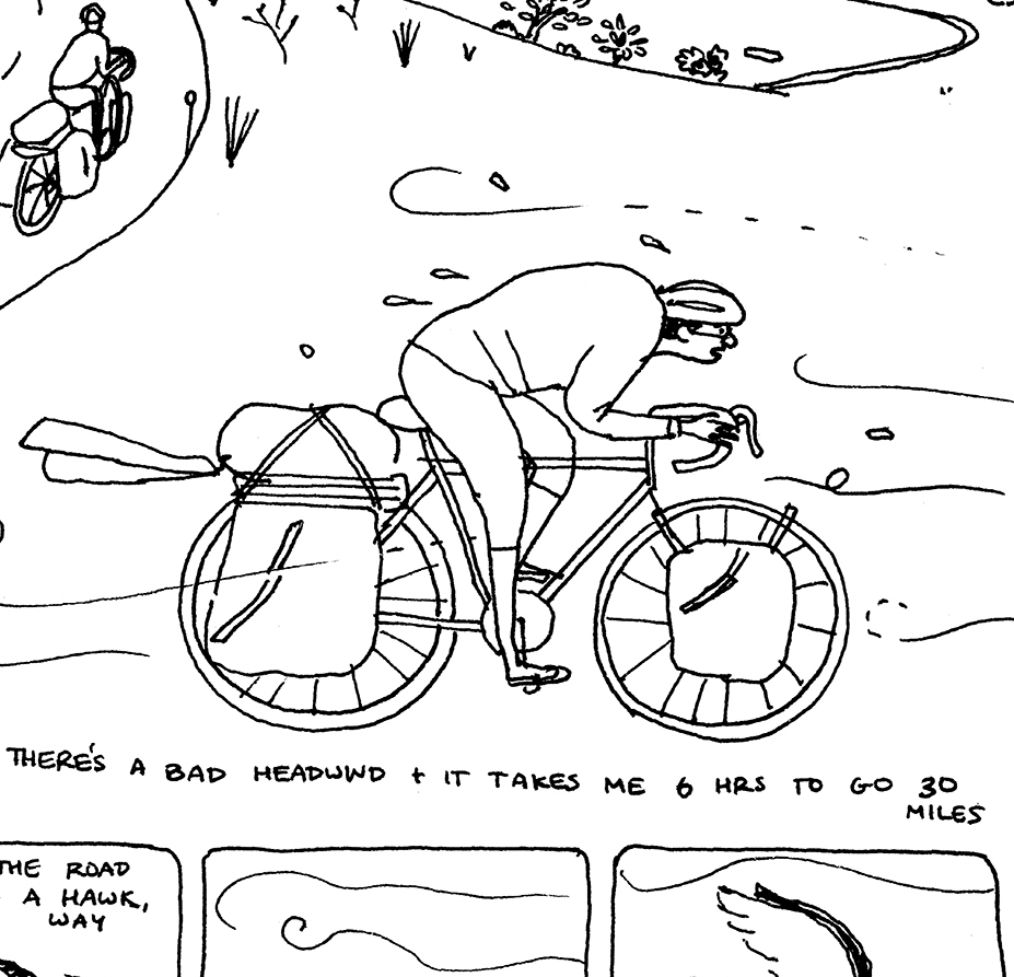 A Two Month Bike Journey Illustrated to Ward Off Depression