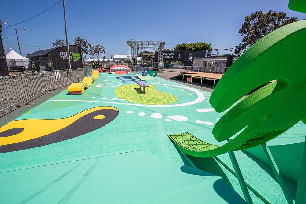 Designer Steven Harrington Creates a Skateable Pop-Up Sculpture Garden