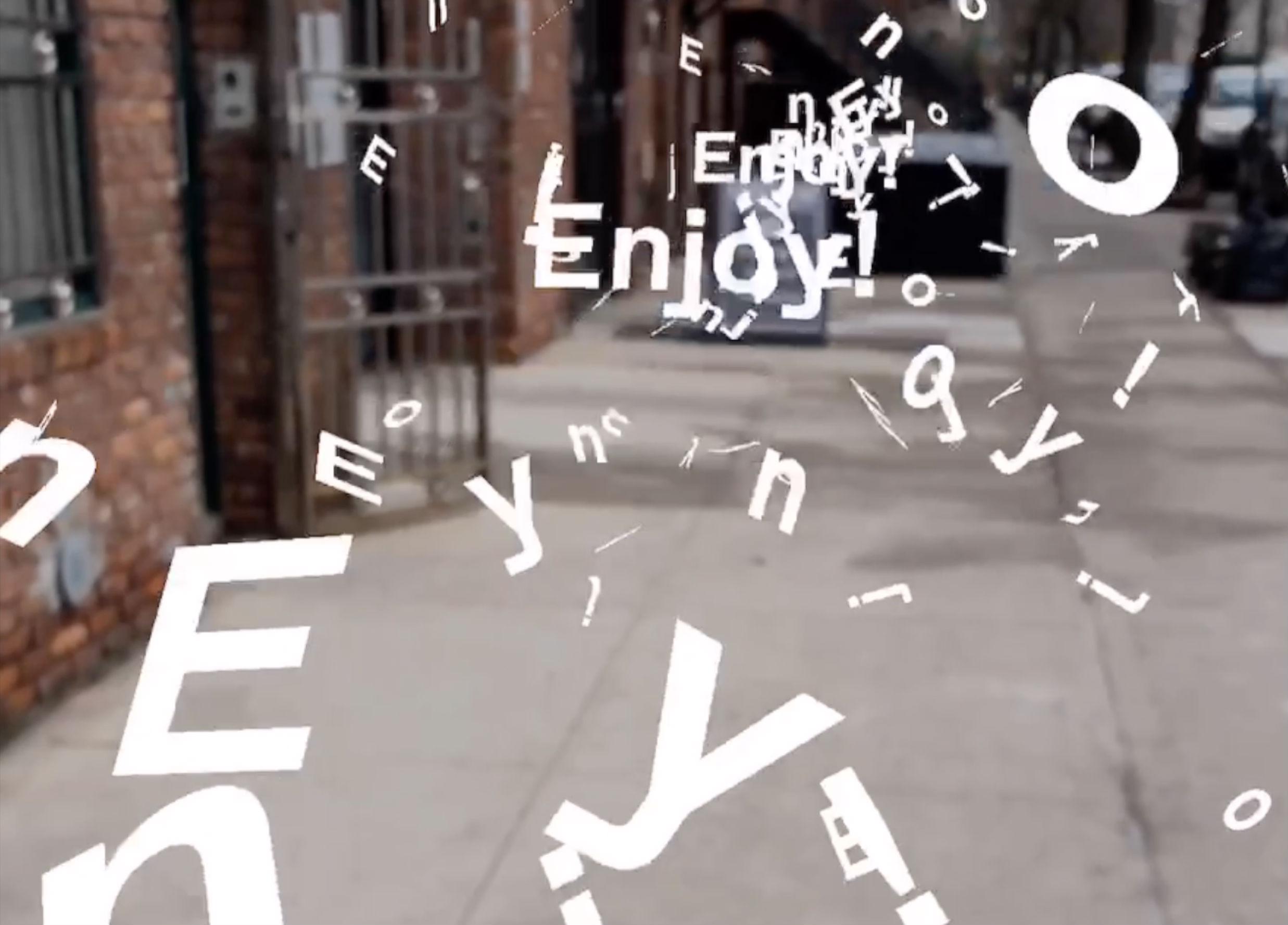Zach Lieberman's New App Turns Type into a 3D Object