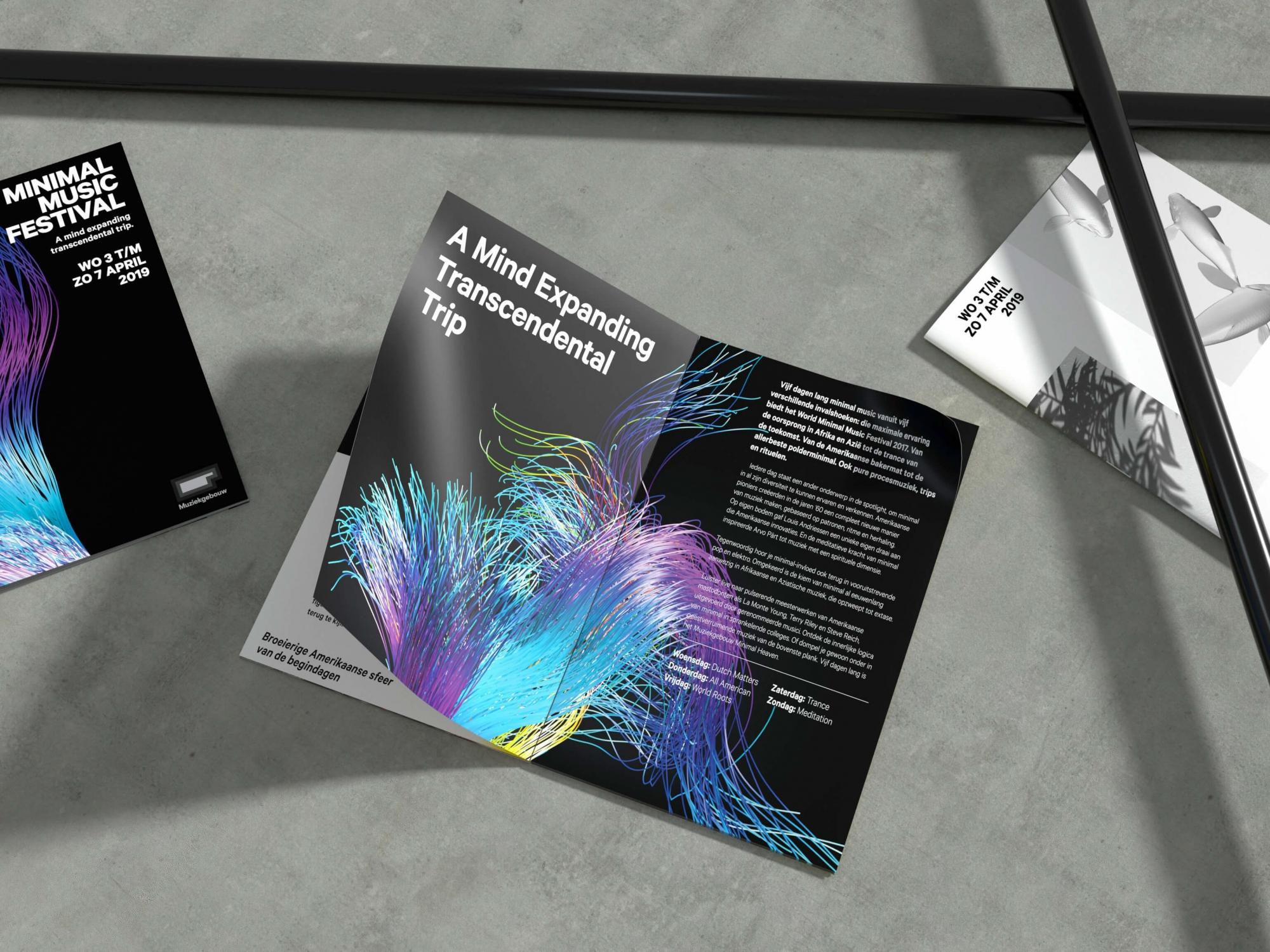 Wandplank Met La.Minimal Music Festival Identity Aiga1 Eye On Design