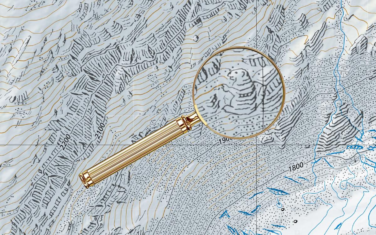 Desde hace décadas, los cartógrafos han escondido ilustraciones en los mapas oficiales de Suiza [ENG]