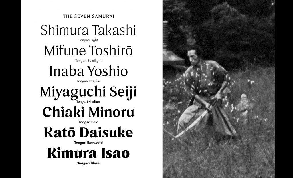 A Razor-Sharp Typeface Inspired By Akira Kurosawa's Seven Samurai